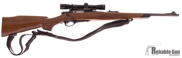 Picture of Used Remington 660 308 Win Bolt Action Rifle, With Leupold Compact 2-7x Scope, Wood Stock, Blued Rifle, Good Condition