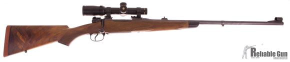 Picture of Used Custom Mauser 9.3x62 Bolt Action, Bushnell Elite 6500 1-6.5, Husqvarna Barrel and Action, Stock Built By Gary Flach, Excellent Condition