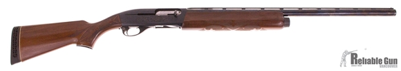 "Picture of Used Remington 1100 Magnum Semi-Auto 12ga 3'', Wood Stock, 26"" Barrel, Left Handed Safety, 2 Chokes (F, IC), Stock Swollen At Recoil Pad, Good Condition"