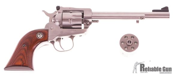 Picture of Used Ruger Single Six .22 LR/.22 Mag Convertible Revolver, 6 1/2 Stainless Barrel, Both Cylinders, Very Good Condition