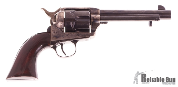 """Picture of Used Uberti 1873 Cattleman SAA Revolver, 45 Colt, 5 1/2"""" Blued Barrel,  Colour Case Hardened Frame, Wood Grip, Good Condition"""