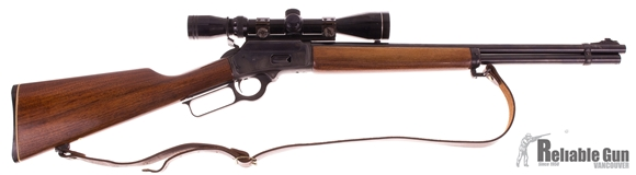 Picture of Used Marlin 1894 .44 Rem Mag Lever Action Rifle, 1980 Production, With 3-12 Scope and Sling, Very Good Condition