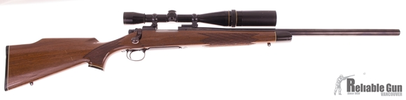Picture of Used Remington 700 Varmint .223 Rem Bolt Action Rifle, Heavy Barrel, Leupold 12x Scope, Walnut Stock, Good Condition