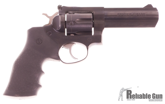 """Picture of Used Ruger GP100 Double-Action 357 Mag, 4.2"""" Barrel, Blued, With Original Box, 6 Snap Caps, Excellent Condition"""