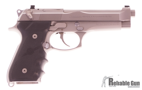 "Picture of Used Beretta 92 Brigadier Inox Semi-Auto 9mm, 5"", Stainless, With 2 Mags & Original Box, Very Good Condition"