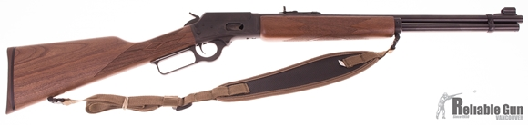 """Picture of Used Marlin Model 1894 Lever Action Rifle - 44 Rem Mag/44 S&W Special, 20"""", Blued, Walnut Straight Grip Stock, 10rds, Sling, Very Good Condition"""