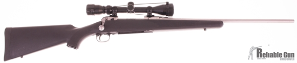 Picture of Used Savage 111 Stainless 30-06, Bolt Action Rifle, Synthetic Stock, Bushnell 3-9x40, 1 Magazine, Good Condition