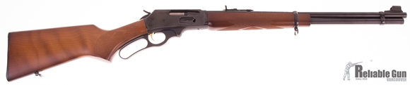Picture of Used Marlin 336W, Lever Action 30-30 Win, 20'' Micro Groove Barrel, JM Stamped, Checkered Wood Stock, Small Scratches On Right Side of Receiver, Very Good Condition