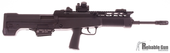 "Picture of Used Norinco Type 97 NSR-FTU Gen 2 Semi-Auto Rifle - 5.56mm, 18.6"", Keymod Flat Top Upper, Side Charging, Ambi Mag Release, Back up Iron Sight, Black Synthetic Stock, 1 magazine, Bushnell TRS-25 Red Dot, Very Good Condition"