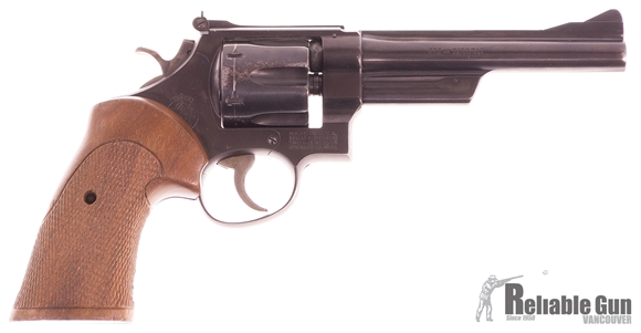 """Picture of Used Smith & Wesson Model 28 Double-Action 357 Mag, 6"""" Barrel, Pin Hammer & Pin Barrel, With Target Grips, Good Condition"""