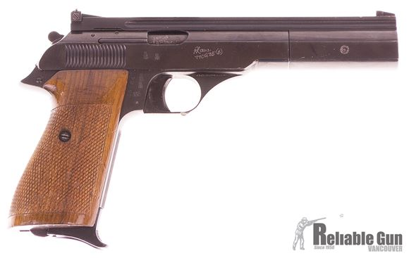 "Picture of Used Bernardelli Mod 69 Semi-Auto 22 LR, 6"" Barrel, With Target Grips, One Mag, Fair Condition"