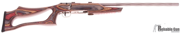 "Picture of Used Savage Mark II BSEV Bolt-Action Rifle - 22 LR, 21"" Spiral Fluted Stainless Heavy Barrel, Laminate Evolution Thumbhole Stock, Accutrigger, Bases, 5rd Mag, New In Box/ Salesman Sample"