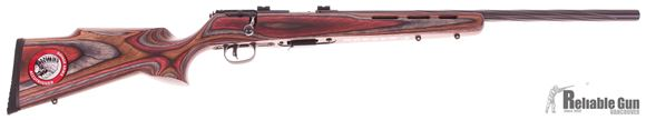 "Picture of Used Savage 93R17 BRJ Bolt-Action Rifle - 17 HMR, 21"" Spiral Fluted Heavy Barrel, Royal Jacaranda laminate Stock, Accutrigger, Bases, 5rd Mag, New In Box/ Salesman Sample"