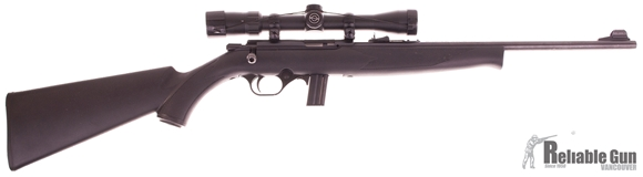 """Picture of Used Mossberg 802 Plinkster Bolt-Action 22 LR, 18"""" Barrel, With Simmons 3-9x32mm Scope, One Mag, Very Good Condition"""
