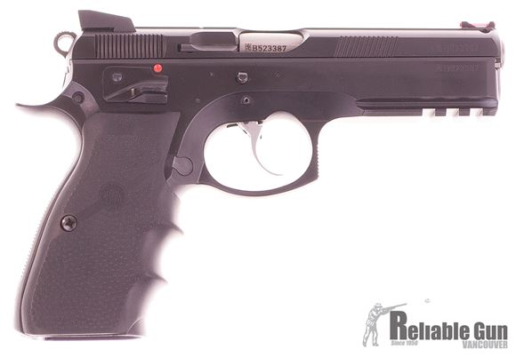 Picture of Used CZ 75 SP-01 Shadow Semi-Auto 9mm, With Hogue Grips, 5 Mags, Original Box, Very Good Condition