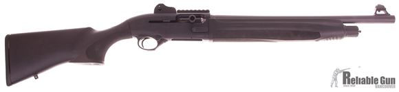 """Picture of Used Beretta 1301 Tactical Semi-Auto Shotgun - 12Ga, 3"""", 18.5"""",  Synthetic Stock, Tritium Front/Ghost Ring Rear Sight w/ Optic Rail, Fixed Choke(C), Oversized Bolt Release & Charging Handle, w/Case, Very Good Condition"""