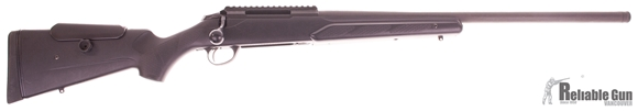 Picture of Used Tikka T3 Tactical Bolt Action Rifle - 223 Rem, 24'' Threaded Barrel, 1x5rds Magazine,  Phosphate finish, Synthetic Stock w/Adjustable Cheekpiece, Tefloned bolt, Tactical bolt handle, Excellent Condition.