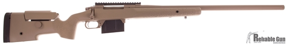 Picture of Used McMillan TAC 300 FDE, Bolt Action Rifle-300 Win Mag, 26'' Match Grade Stainless Threaded Barrel, 20 MOA Picatinny Rail,  Tactical Stock W/Spacer System (3 Extra Spacers), Flush Cups, 2 Magazines (AI Style) , w/Pelican FDE 1750 Case, Dewey Cleaning R