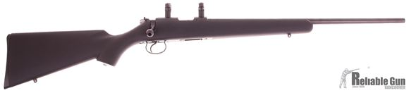 """Picture of Used CZ 455 Synthetic Rimfire Bolt Action Rifle - 22 LR, 20-1/2"""", Blue, Synthetic Soft Touch Stock, 1 Magazine, Leupold 1'' Scope Rings, 22 Cal Dewey Cleaning Rod, Excellent Condition"""