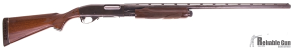 "Picture of Used Remington 870 Magnum Wingmaster Pump-Action 12ga, 3"" Chamber, 30"" Rib Barrel, Full Choke, Wood Stock, Fleur De Lis Checkering, White Line Spacers on Grip Cap And Pad, Good Condition"