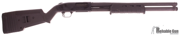 "Picture of Used Mossberg 500 12 ga ""Magpul"" Security Pump Action Shotgun, 8-Shot Tube, Magpul Furniture, 20"" Barrel, Scratch in Forearm Otherwise Good Condition"