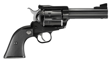 "Picture of Ruger New Model Blackhawk Single Action Revolver - 45 Colt, 4.6"", Blued, Alloy Steel, Black Checkered Hard Rubber Grips, 6rds, Ramp Front & Adjustable Rear Sights"
