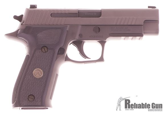 "Picture of Used SIG SAUER P226 DA/SA  Semi-Auto Pistol - 9mm, 4.4"", Legion Gray PVD Finish Stainless Steel Slide & Alloy Frame, Custom G-10 Grips, 3x10rds, X-Ray Day/Night Sights, Rail"