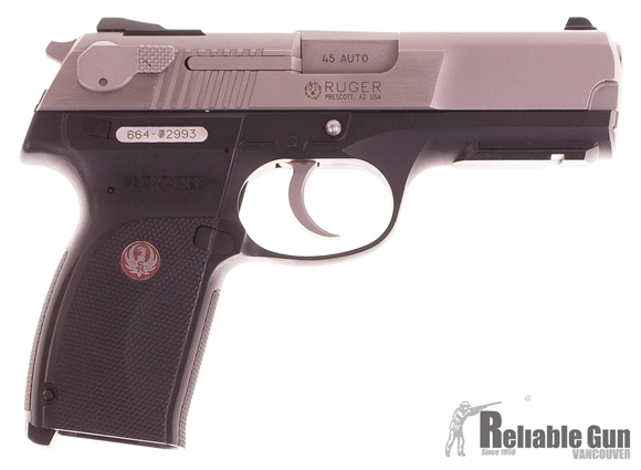 Picture of Used Ruger P-345, Semi Auto Pistol, 45 Auto,  Stainless Slide, Polymer Frame, 4 Magazines, Very Good Condition