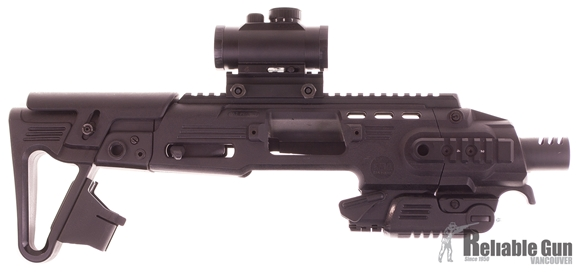 Picture of Used EMA tactical RONI G1 Stock Kit for Glock 17/22, With Tasco Red Dot Sight, Good Condition