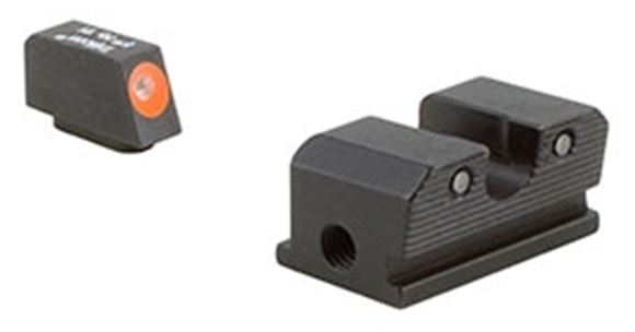 Picture of Trijicon Iron Sights, Trijicon HD Night Sights - Walther, WP101C, Walther P99/PPQ HD Night Sight Set, Orange Front Outline, Fits Walther P99 & PPQ Models
