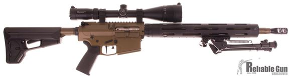 Picture of Used CMMG M3 Semi Auto Rifle, 308 Win, 18.5'' Fluted Barrel, Muzzle Brake, CeraKote Burnt Bronze, JP Handguard, Magpul ACS Stock, Timney Trigger, BCM Gunfighter Charging Handle, Vortex Crossfire 6-24x50 Scope, Bipod, 1 Magazine, Very Good Condition