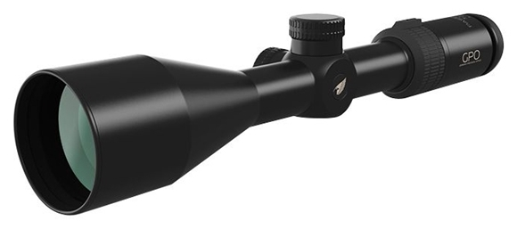 Picture of German Precision Optics - Passion 4X Riflescopes - 3-12x56mm, 30mm, .1 Mil (1cm) Click Value CW Rotation, Black, PassionTrac Quick Zero Turrets w/ Anodized Aluminum Turret Caps, G4/German 4 Reticle, GPOBright Lens Coating