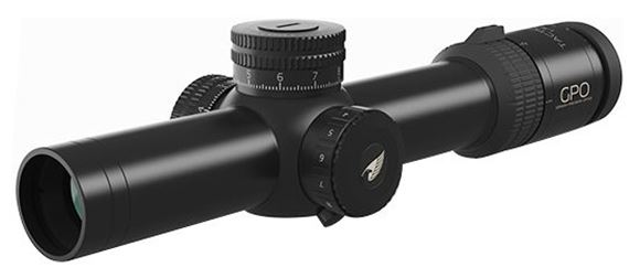 Picture of German Precision Optics - Passion 8X Tactical Riflescopes - 1-8x24i Tac, 34mm, 1cm Click Value CW Rotation, Black, PassionTrac Quick Zero Target Turrets, Horseshoe Reticle, iControl Illumination,  GPOBright Lens Coating