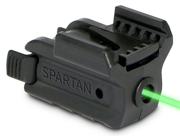 Picture of LaserMax Spartan Adjustable Fit Laser - Green Laser, 1/3N battery, Fits Picatinny & Weaver Rails