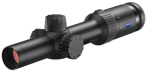 Picture of Zeiss Hunting Sports Optics, Conquest V4 Riflescope - 1-4x24mm, 30mm, Illuminated German Post Reticle (#60), 1/2 MOA Click Adjustment, Matte Black