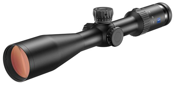 Picture of Zeiss Hunting Sports Optics, Conquest V4 Riflescope - 6-24x50mm, 30mm, ZBR-1 Reticle (#91), Side Focus, ASV Elevation Turret, 1/4 MOA Click Adjustment, Matte Black
