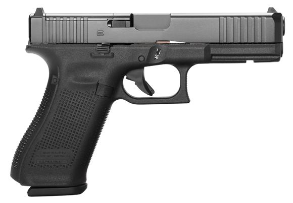 """Picture of Glock 17 MOS Gen5 Standard Safe Action Semi-Auto Pistol - 9mm, MOS Configuration, Optic Kit w/ Riton Red Dot, 4.49"""", Black, 3x10rds, Fixed Sight, 5.5lb. Made in Austria"""