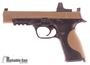 """Picture of Used Smith & Wesson (S&W) M&P9 Pro Series Striker Fire Action Semi-Auto Pistol - 9mm, 5"""", Cera Kote Burnt Bronze Stainless Steel Slide, Zytel Polymer Palmswell Grip, 3 Dot Supressor Sights, Leupold Delta Point Red Dot Sight, 6 Magazines, Holster, Good Co"""