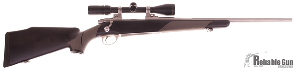 Picture of Used Sako 75 Finnlight Bolt Action Rifle, 30-06 Sprg, 20'' Stainess Fluted Barrel, Synthetic Stock, Bausch & Lomb Elite 3000 3-9x40 Scope Opti-lock Rings, 1 Magazine, Good Condition