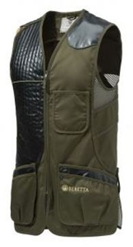 Picture of Beretta Men's Clothing, Vests - Eco Leather Sporting Vest, Adult, Dark Olive, L