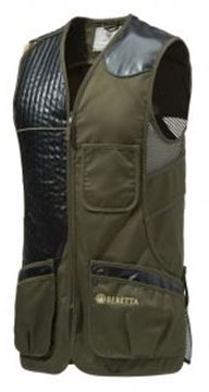 Picture of Beretta Men's Clothing, Vests - Eco Leather Sporting Vest, Adult, Dark Olive, XL