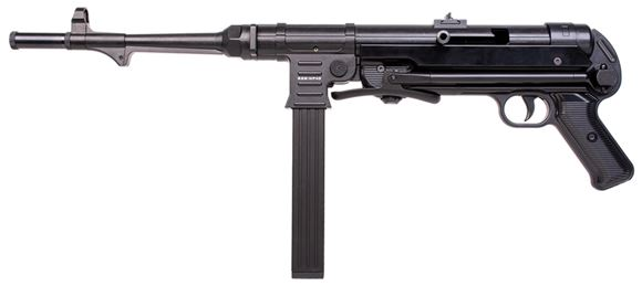 "Picture of German Sport Guns (GSG) GSG-MP 40 Rimfire Semi-Auto Rifle - 22 LR, 11.7"", Blued, Folding Metal Stock, 23rds, Fixd Front Post & Adjustable Rear Sights"