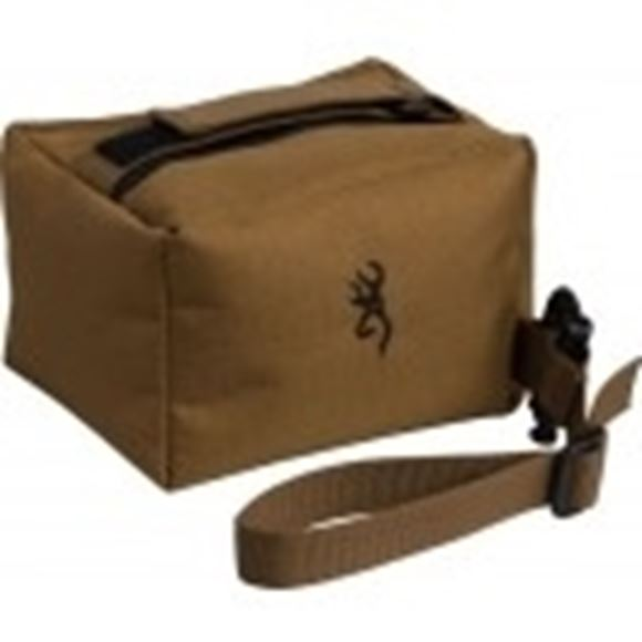 Picture of Browning Shooting Accessories, Gun Rests - Precision Rifle Rest, Small, Brown, Heavy Duty Stitching, Buck Mark Logo