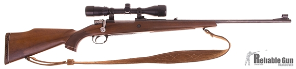 Picture of Used Parker Hale Bolt Action Rifle, 308 Win, 24'' Barrel w/Sights, Wood Stock, Bushnell Banner 3-9x40 Scope, Suede Leather Sling, Good Condition