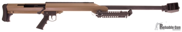 "Picture of Used Barrett Model 99 Bolt-Action .50 BMG, 32"" Barrel, FDE, With Original Pelican Case, Excellent Condition"