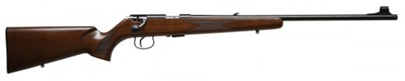 """Picture of Anschutz 1416 D KL Walnut Classic Rimfire Bolt Action Rifle - 22 LR, 23"""" Threaded Barrel, Blued, Walnut Stock, 5rds, Folding Leaf Sight, Match 64 Action, 1-Stage 5094 D"""