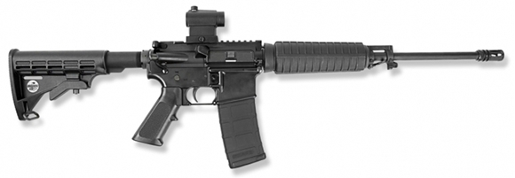 """Picture of Bushmaster Custom XM-15 - 5.56mm NATO/223 Rem, 16"""", ODG, FNC Treated Superlight 4150 Steel, 7075 Forged Receivers,ODG Magpul K2 + Grip, ODG Magpul ACS Collapsible Stock, Magpul B.A.D. Lever, 5/30rds, A2 Flash Hider, w/Quick Detach Red Dot"""