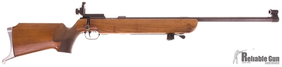 Picture of Used Walther Heavy Barrel Target Bolt Action 22LR, Single Shot, 25'' Heavy Barrel w/Olympic Style Sights, Wood Stock, Adjustable Trigger, Hand Stop, Wood is Worn, Overall Good Condition