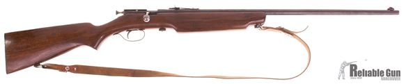 Picture of Used Cooey Model 75 Bolt Action 22 LR, Single Shot, Wood Stock, Leather Sling, Good Condition