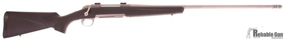 Picture of Used Browning X-Bolt Stainless Stalker Carbon Fiber Fluted Bolt Action Rifle - 300 Win Mag, 26'' Fluted Barrel w/Muzzle Brake, 3 magazines, Very Good Condition